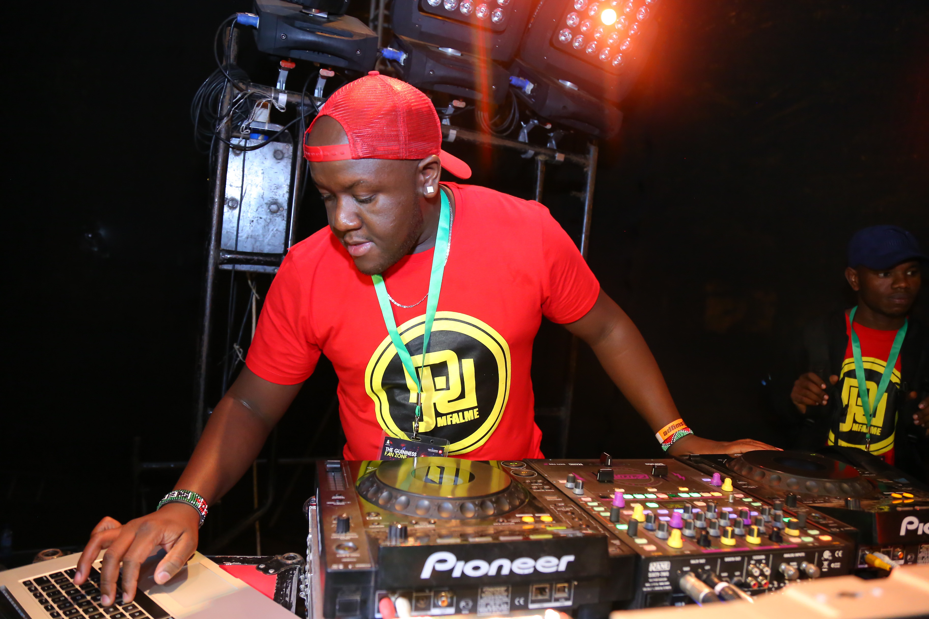 Photo:Dj Joe Mfalme on decks during the Guinness Fanzone Experience held at Simba Union Club in Kisumu over the weekend.