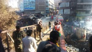Stall in Gikomba Market Destroyed by Fire