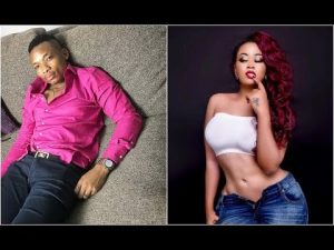 Otile brown on the left and Vera Sidika on the right